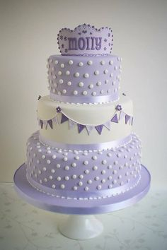 Molly`s christening cake xxx - by Kevin @ CakesDecor.com - cake decorating website