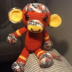 Marco the Sock Monkey 10/6/15. Pattern by Amigurumi to Go. Sold 21/11/15
