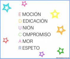 ¿Qué es educar? Frase de educación. Hi Quotes, Love Quotes, Teaching Quotes, Quote Posters, Kids And Parenting, Sentences, Homeschool, Classroom, Teacher