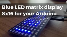In this video I'd like to introduce an LED matrix display for use in projects where a text-readable display is needed. Rendering of text is provided by 128 LEDs connected to power supply in our demo on Arduino UNO (pins 2 and Flash Memory, Filing System, Arduino, Science And Technology, Display, Memories, Led, Projects, Floor Space