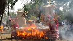 Balinese cremations ceremonial