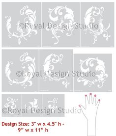 2054 Complete Chinois Set of Stencils Includes: 2051 Chinois Birds, 2052 Chinois Leaves & 2053 Chinois Elements See separate products for size detail, Reusable 10 mil mylar Decorating with stencils is fast, fun, and easy! Our durable 10mil mylar stencils are designed to be