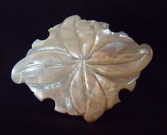 Mother Of Pearl Brooch / / Floral Engraved Mother by EstatesInTime