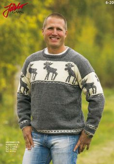 Elk pattern sweater.
