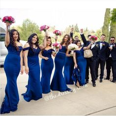 2016 Hot Royal Blue Off-shoulder Mermaid Long Beach Bridesmaid Dresses Dubai Arabic Style Lace Beaded Maid Of Honor Wedding Party Dress from gaogao8899, $86.84 | DHgate Mobile