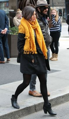 Nikki Reed's cold-weather scarf