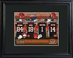 NFL Locker Print with Matted Frame - Bengals
