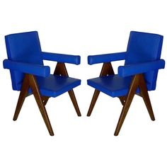 Pair of Chandigarh Committee Chairs By Pierre Jeanneret | From a unique collection of antique and modern armchairs at https://www.1stdibs.com/furniture/seating/armchairs/