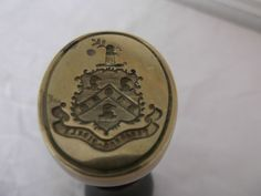 VINTAGE POSSIBLY FRENCH! ARMORIAL CREST DESK SEAL
