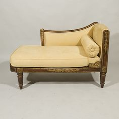 1900-1950 Discreet Antique Louis Xv Style Brocade Upholstered Vanity Bench Bed Chaise Loveseat Sofa Antiques