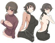 Persona 5 Makoto in sweater dress