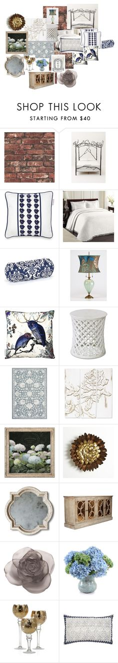 """Romance in the fairy forest"" by russetandolive ❤ liked on Polyvore featuring interior, interiors, interior design, home, home decor, interior decorating, Anthropologie, Izod, Worth and Majestic Home Goods"