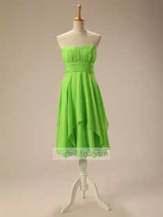 Scoop Neck Pretty Chiffon Cheap Short Prom Dress Evening Dress Bridesmaid Dress