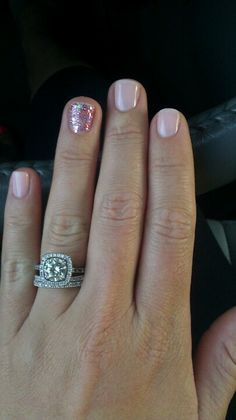 My wedding nails :-)---forget the nails, the RING!!!!