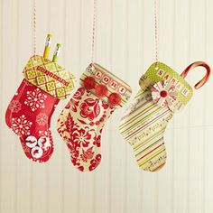 Cute paper stockings - fun for decorations or gifts