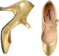 Gold Repetto Tango Shoes