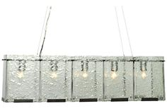 Varaluz Rain 36 3/4-Inch-W Rainy Night Glass Island Pendant - #EU9C662 - Euro Style Lighting