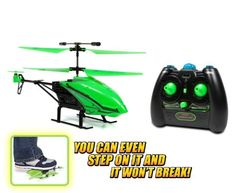 Nano Hercules Unbreakable Glow in the Dark 3.5CH RC Helicopter Glow in the Dark Body Can Take Up To 200 Pounds Of Force Super Strong Polymer Body