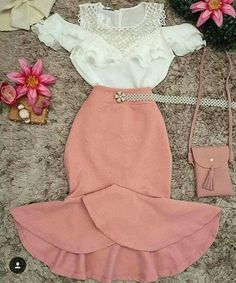 Lindo Teen Fashion Outfits, Classy Outfits, Cute Fashion, Chic Outfits, Pretty Outfits, Spring Outfits, Fashion Dresses, Dress Outfits, Stylish Dresses