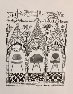 vintage Herman Miller poster created by Charles and Ray Eames