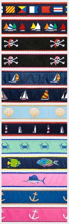 Nautical Pet Collars!