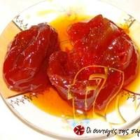 Great recipe for Domataki spoon sweet. Recipe by ASTERI Roma Tomatoes, Recipe Images, Sweet Recipes, Spoon, Sweets, Fish, Preserves, Greece, Greece Country