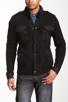 Seduka Contrast Trim Sweater Jacket