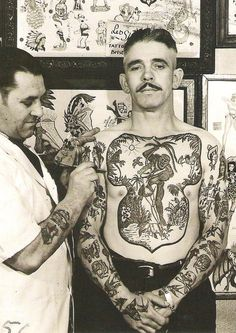 The right-handed Skuse started his tattoo career in 1928 at the shop of Joseph Hartley, who was probably Bristol's one and only tattoo artist before Skuse. Hartley was a long time tattooist/supplier in this area and was located at 2 Blackfields, near Stokes Croft, Bristol, England.