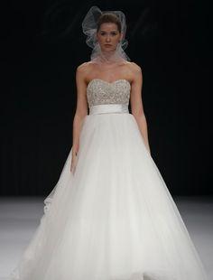 Badgley Mischka  Sweetheart Ball Gown in Organza