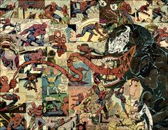 Juxtapoz Magazine - Mike Alcantara's Comic Book Collages