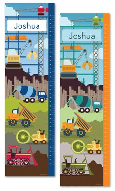 Growth Chart ~ Construction Theme