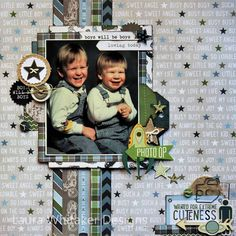 I am sharing a layout today at Boys Rule Scrapbooking Kits , created using the September / October 2015 kit contents! Love Scrapbook, Scrapbook Layout Sketches, Vintage Scrapbook, Scrapbook Designs, Scrapbooking Layouts, Scrapbook Cards, Scrapbook Organization, Scrapbook Supplies, Echo Park Paper