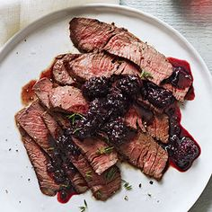 Grilled Sirloin with Blackberry Sauce - have to try this, it looks and sounds so yummy!!