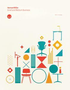 Drehbuch & Siegel // Herman Miller on Behance - graphic - Web Design, Layout Design, Print Design, Flat Design, Web Layout, Edge Design, Design Trends, Herman Miller, Illustration Design Graphique
