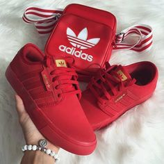 Red Stripe Adidas fashion sneakers adidas style fashion ideas fashion and style fashion for women style ideas red adidas