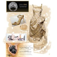 Bold in Vintage Gold - Polyvore http://www.marykay.com/lisabarber68 or call or text me 386-303-2400