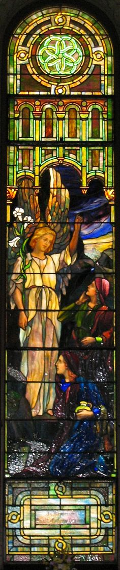 stained glass window the Resurrection