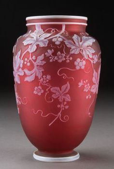 Thomas Webb Cameo Glass Vase Antique | 911 thomas webb sons english cameo art glass vase