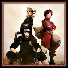 The Three Sand Siblings Naruto Cosplay Costumes