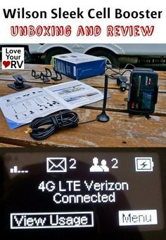 Boosting RV Internet with the Wilson Sleek 4G | Review by Love Your RV! blog - http://www.loveyourrv.com/ #RV  #internet