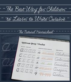 The Best Way for Children to Learn to Write Cursive {Free Printables} - The Natural Homeschool Teaching Cursive Writing, Learning To Write, Teaching Handwriting, Pre Writing, Kids Learning, Learn To Write Cursive, Handwriting Analysis, Handwriting Worksheets, Cursive Handwriting Practice
