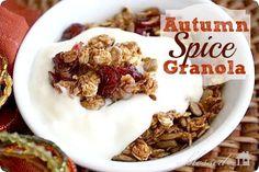 Autumn Spice Granola | MyBlessedLife.net