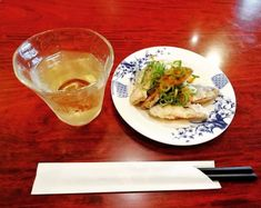 Having a #drink at the #Chinese family #restaurant with fried... drink chinese restaurant fish japan wine whitewine