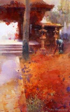 Yuko Nagayama 永山裕子, 1963 ~ Symbolic Watercolor painter