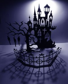spooky castle cut out - Grimm's Fairy Tales