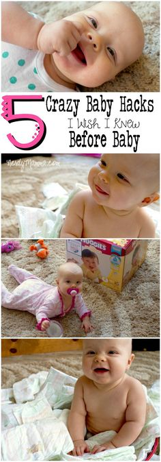 These crazy baby hacks are so awesome. I mean, they really are so helpful--and funny. And #3...I dd not know that...genius. #MyHuggiesBaby #ad