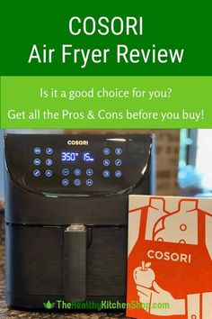Pros, cons, details - get ALL the facts before you buy. This Cosori Air Fryer gives you huge cooking capacity at a low price that beats all the competition. Here's what we love about it, as well as the drawbacks you should consider. Our detailed review helps you save time and shop smart! #airfryer #cosoriairfryer #cosoriairfryerreview #largeairfryer #xxlairfryer