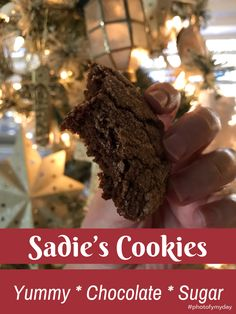 Yummy chocolate sugar cookies! This recipe is as easy to make as the cookies are to eat. 😋 #cookierecipes #cookies #chocolatecookierecipes