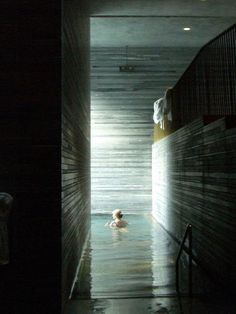 Therme Vals hotel and bath, in Vals, Switzerland, by architect Peter Zumthor