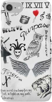 Justin Bieber Tattoos 2016 iPhone 7 Cases